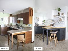 Eclectic Kitchen Renovation- including before and after photos. ABM