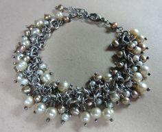 Fresh Water Pearl Bracelet. $150.00, via Etsy.