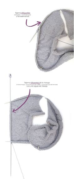 Knitted sweater with baby ruffles woven with two needles - Pattern and DIY tutorial Diy Tutorial, Baby Knitting, Knit Crochet, Little Girls, How To Make, Ideas Para, Aurora, Ruffles, Internet