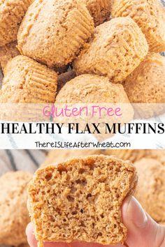 Flax Seed Recipes, Wheat Free Recipes, Best Gluten Free Recipes, Gluten Free Baking, Gluten Free Desserts, Healthy Baking, Flax Seed Bread Recipe, Gluten Free Recipes For Breakfast, Healthy Food