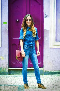 Denim on denim = Today's outfit inspiration.