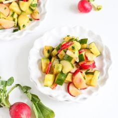 The fresh flavors of radishes, cucumbers and avocados highlight the flavors of springtime beautifully in this easy salad.