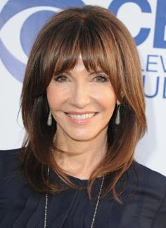 20 Gorgeous Shoulder-Length Haircuts for Women Over 50: Bangs Can Take Years Off Your Face
