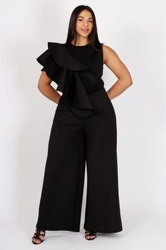 51b5a3921dd3 Walk in elegance and glam with this plus size wide-leg jumpsuit. Be able