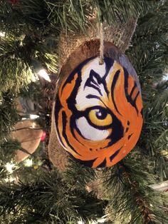 tigers tiger decor Tiger ornament: tiger cub ornament Christmas tiger LSU tiger ornament Clemson tiger ornament Auburn tiger ornament