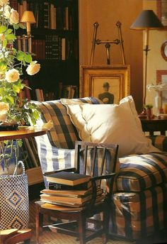 Love an antique or vintage child's chair in a room. To hold books, a plant. Always charming.