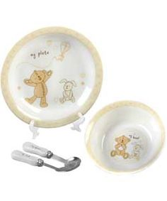 Buy Button Corner Ceramic Baby's Dinner Set at Argos.co.uk, visit Argos.co.uk to shop online for Baby tableware sets, Christening and new baby gifts