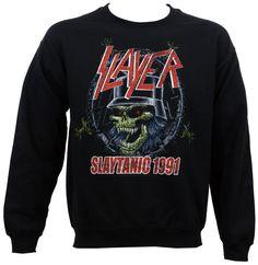 Authentic SLAYER Band Slaytanic 1991 Crewneck Sweatshirt S-XL NEW #OfficiallyLicensed #Crewneck