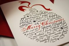 Seahorsebendpress on Etsy: Calligraphy Christmas Greeting Cards