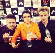 A new British boy band called M.A.D michael- 16 dan- 16 aiden- 16