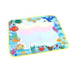 Kids' Drawing Pastels - KKmoon Kids Drawing Water Mat Tablet Aqua Doodle 60  49cm Multicolour Drawing Board  Pen -- Check this awesome product by going to the link at the image.