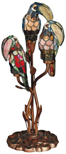Dale Tiffany TA60179 Three Parrots Table Lamp, Antique Bronze Dale Tiffany Lamps http://www.amazon.com/dp/B001TJZ1GY/ref=cm_sw_r_pi_dp_VqAwvb0J9VG8W