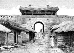서소문(西小門)은 태조 5년(1396)에 만들어졌습니다. 첫 공식 명칭은 소덕문(昭德門)이었다가 후에 소의문(昭義門)으로 바꾸었습니다. 처음엔 문루(門樓) 없이 옹성만 둘렀던 것을, 영조 20년(1744)에 새로 문루를 세웠습니다. 서소문은 인천과 강화를 잇는 관문으로 광희문(光熙門)과 함께 시체를 도성 밖으로 내갈 수 있는 문이었습니다. 조선후기 성문 밖에 칠패시전이 생겨 상업의 중심이 되었습니다.