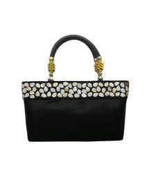Buy Shimmer Handbag with Elegant Border (Black) handbag online