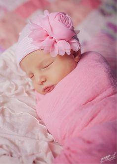 newborn hospital hat Baby girl hat newborn by Infanteeniebeenies