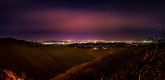 CityScape - Night shot of Zagreb from beautiful Samobor mountains