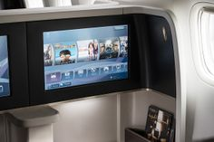 In-flight entertainment on our #first_class   With over 1200 hours of entertainment on demand , you can watch whatever you want, whenever you want #B777_300ER