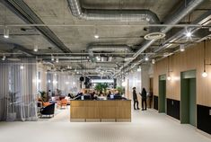 """Architecture studio Soda looked to """"rigorous"""" layout of Regency-era squares to create this contemporary co-working space in central London, which features a roof terrace, gym and drinks bar."""