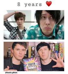 why does dan look sweaty and 10 years older than he is