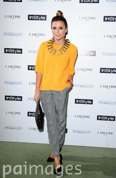 Zoe Hardman attending the InStyle Best of British Talent party in association with Lancome and Sky Living at Dartmouth House, London.