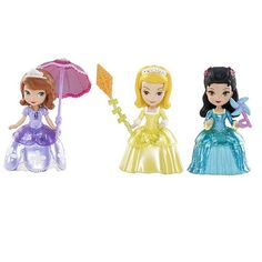 "Exclusive Disney Sofia the First 3 inch Doll Pack with Sofia, Amber and Hildy - Mattel - Toys ""R"" Us"