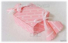 tutorial origami candy box