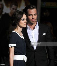Actors Keira Knightley and Chris Pine attend the premiere of Paramount Pictures' 'Jack Ryan: Shadow Recruit' at TCL Chinese Theatre on January 15, 2014 in Hollywood, California.