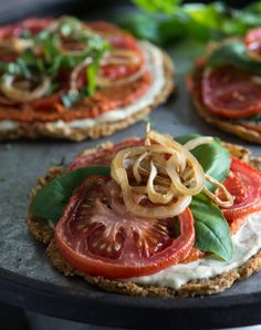 Raw Cauliflower Crust Pizza - Cauliflower, pine nuts, ground golden flax, hemp…