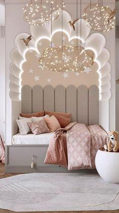 Luxury Kids Bedroom, Bedroom For Girls Kids, Modern Kids Bedroom, Cute Bedroom Ideas, Room Design Bedroom, Girl Bedroom Designs, Room Ideas Bedroom, Kids Room Design, Home Decor Bedroom
