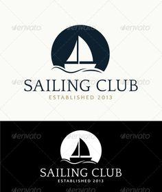 Boat Logo  - Nature Logo Templates #boat #sailing #wave #logo #typography…