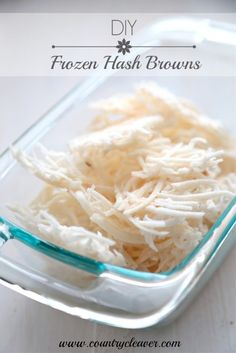 DIY Frozen Hash Browns - www.countrycleaver.com