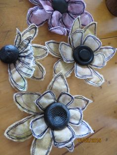 flowers made from used dryer sheets.