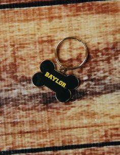 Baylor Brass Dog Tag // If you're a Baylor fan, so is your dog. It's just a fact. #SicEm