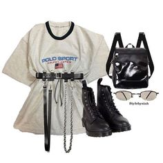 Fashion trends grunge outfits Ideas for 2019 Stage Outfits, Kpop Outfits, Edgy Outfits, Mode Outfits, Retro Outfits, Grunge Outfits, Girl Outfits, Fashion Outfits, Kpop Fashion