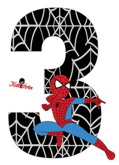 Spiderman Theme Party, Baby Spiderman, Superhero Birthday Party, Man Birthday, Spider Man Party, Fête Spider Man, Spiderman Invitation, Fourth Of July Crafts For Kids, Birthday Numbers