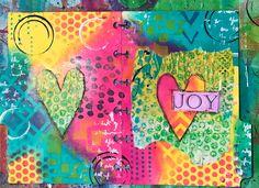 Joy. #raesnewchallenge #februaryartmarkslove #artmarkschallenge #artmarks30daychallenge Art Journal Prompts, Art Journal Techniques, Mixed Media Techniques, Art Journal Pages, Junk Journal, Art Journals, Journal Ideas, Art Journal Backgrounds, Gelli Printing