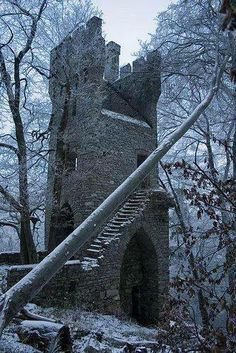 Abandoned Castles to Visit - via: Ruins of Karlsburg - via: chasingthegreenfa. - Why abandoned castles are top choice in travelers Abandoned Buildings, Abandoned Castles, Abandoned Mansions, Old Buildings, Abandoned Places, Ancient Ruins, Castle Ruins, Tower Castle, Haunted Places