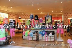 Shopping at Victoria's Secret!!!!!