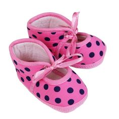Buy Booties for Boys Girls Unisex Baby - Footwear - Trendy Baby Booties-Polka Dots-Pink Online India | The Little Shopper