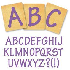 Ellison SureCut Die Set - Lollipop Alphabet, Capital Letters - 4 Inch