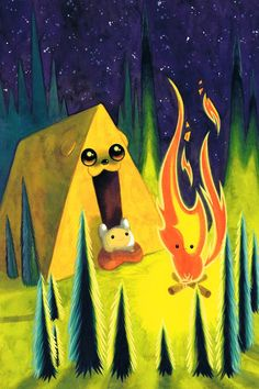 Adventure Time Summer Special 2013, Becky Dreistadt. haha flambo is the campfire
