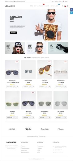 Logancee is an multipurpose #WordPress #WooCommerce theme suitable for #sunglasses shop stunning eCommerce websites with fully customizable download now➩   https://themeforest.net/item/logancee-multipurpose-ecommerce-wordpress-woocommerce-theme/18394029?ref=Datasata