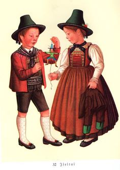 FolkCostume&Embroidery: Costumes of Tyrol Alps, Snow White, Disney Characters, Fictional Characters, German, Hipster, Costumes, Traditional, Embroidery
