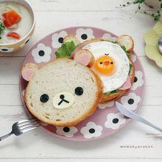 Korilakkumar & Kiiroitori sandwich by momo (@momokyaraben)