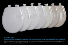 Toilet Seat Color Cross Reference Toilets Colors And