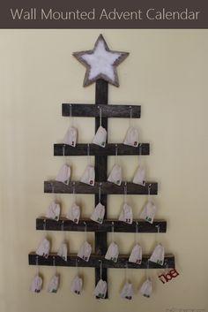 Wall Mounted Advent Calendar - Tutorial #christmas #advent #diy #countdown