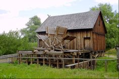 Old Wooden Watermill, Nowogrod, Poland
