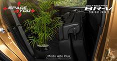 Modo Alto Plus: Transporta cualquier objeto sin importar su altura. #InesperadaBRV Con la tecnología exclusiva de Honda, Space4You, no tendrás límites para trasladar todo lo que necesites. Sus asientos configurables desde la segunda hasta la tercera fila, hacen de BR-V tu mejor aliada en cada viaje.