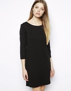 ASOS 3/4 black dress with brass zip