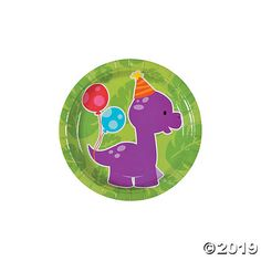 Time for delicious dino treats! These strong paper plates are kids' birthday party supplies that are as cute as they are useful. Heap them with cake and ...